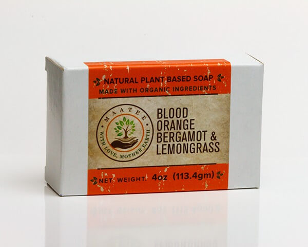 Blood Orange Bergamot And Lemongrass Organic Bar Soap Package