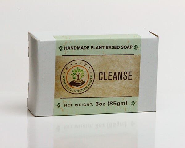 Cleanse handmade bar soap package