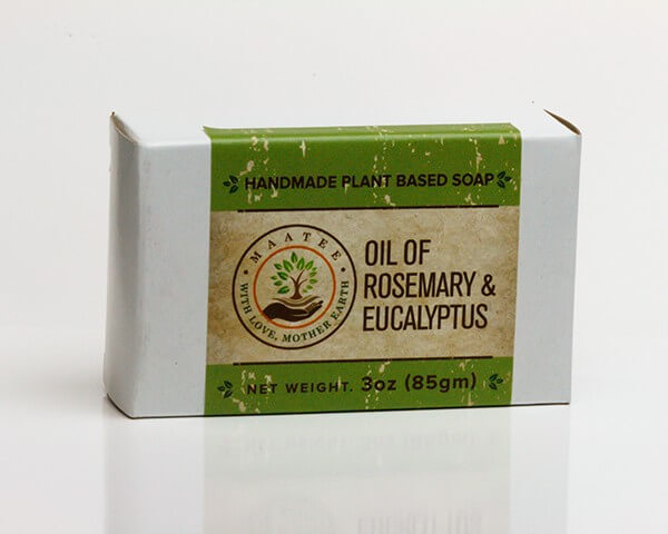 Oil of Rosemary And Eucalyptus handmade bar soap package