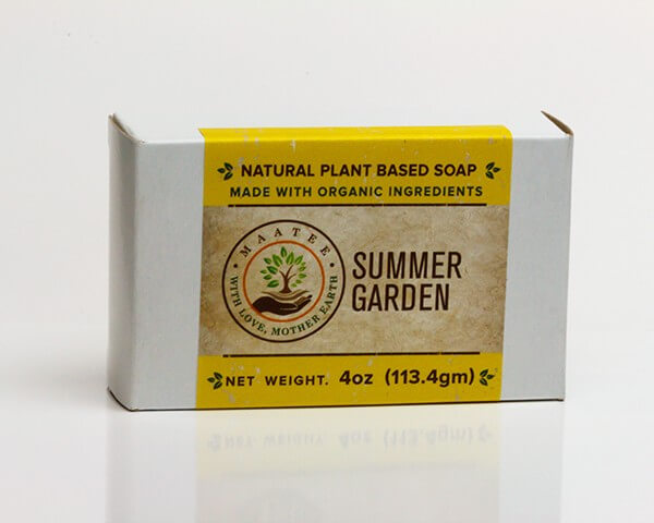 Summer Garden Organic Bar Soap Package
