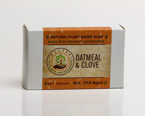 Oatmeal And Clove Organic Bar Soap package