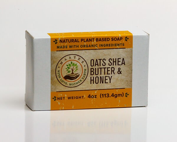 Oats Shea Butter And Honey Organic Bar Soap package