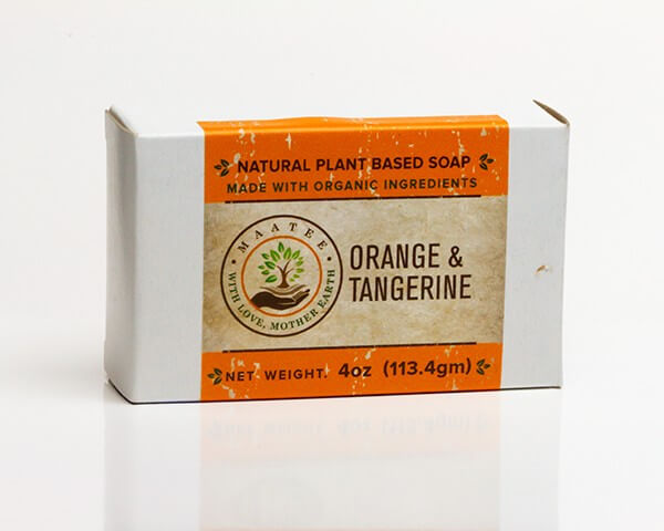 Orange And Tangerine Organic Bar Soap Package