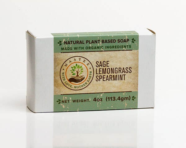 Sage Lemongrass And Spearmint Organic Bar Soap Package