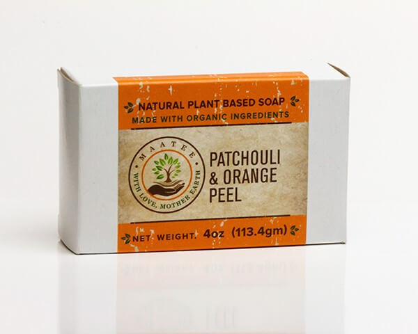 Patchouli And Orange Peel Organic Bar Soap package