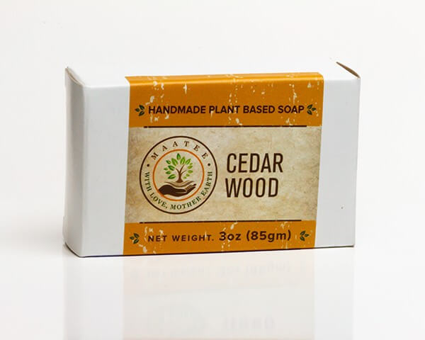 Cedar Wood handmade bar soap package