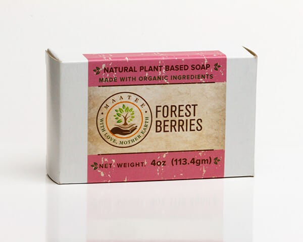Forest Berries Organic Bar Soap Package
