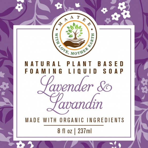 Lavender And Lavandin Organic Liquid Foaming soap front label