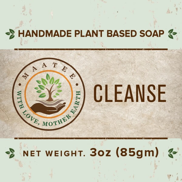 Cleanse handmade bar soap front label