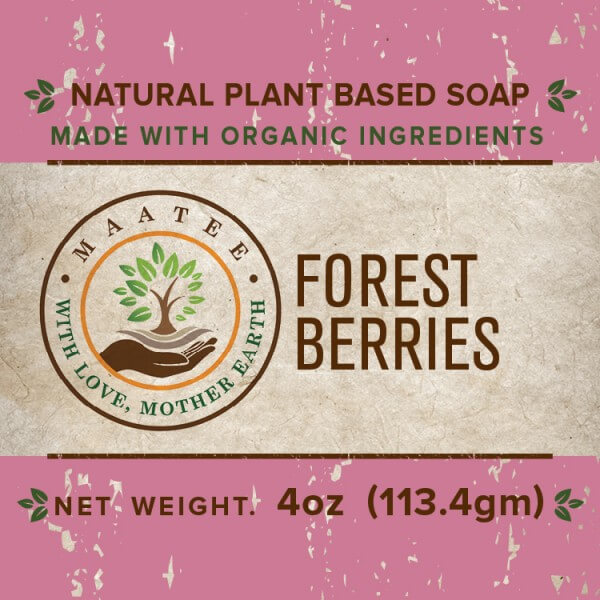 Forest Berries Organic Bar Soap Front label
