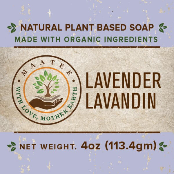Lavender And Lavandin Organic Bar Soap front label