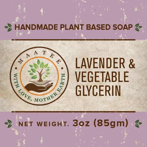 Lavender And Vegetable Glycerin handmade bar soap front label