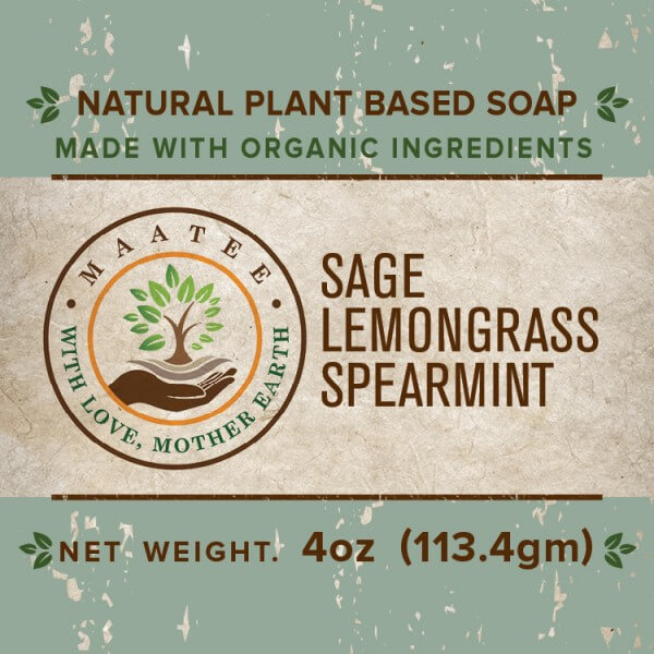 Sage Lemongrass And Spearmint Organic Bar Soap front label