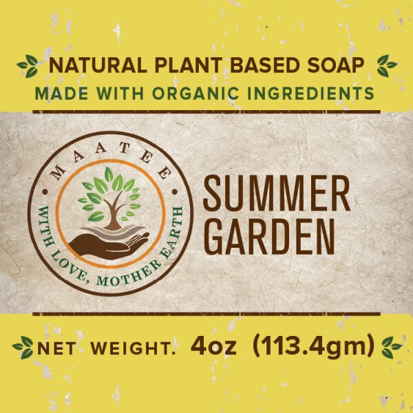 Summer Garden Organic Bar Soap front Label