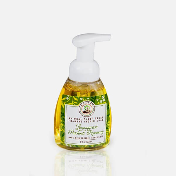 Lemongrass Patchouli Rosemary Organic Liquid Foaming soap