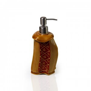 Handmade Ceramic Amber Liquid Dispenser