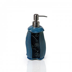 Handmade Ceramic Blue Liquid Dispenser