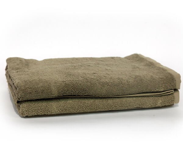2 Olive Green Bath Towel