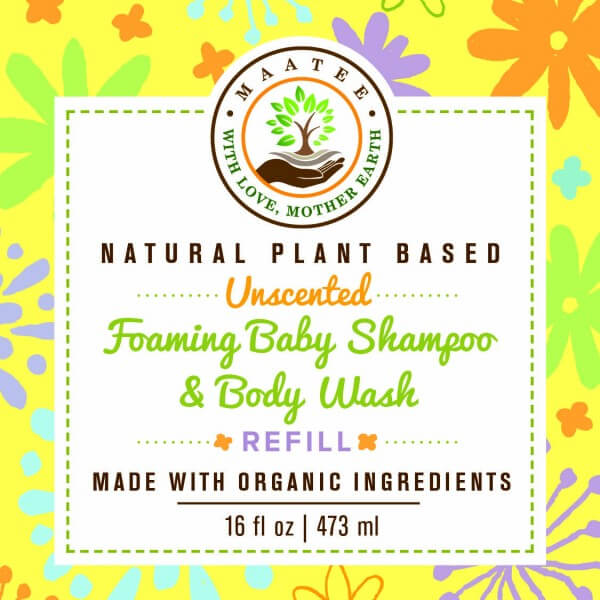 Baby Shampoo and Body Wash Refill front label