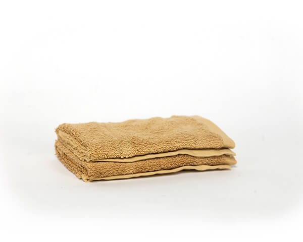 2 Yellow Face Towels