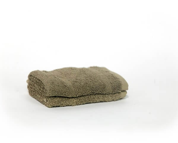2 Olive Green Face Towels