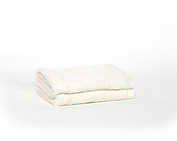 2 Sea Salt White Face Towels