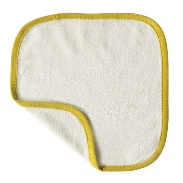 Organic Wash Cloth Yellow Texture