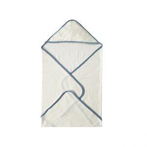 Organic Hooded Towel Blue Folded