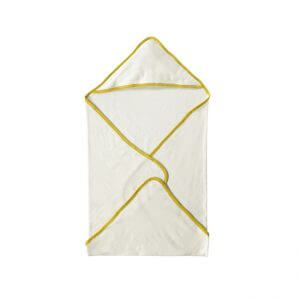 Organic Hooded Towel Yellow Folded