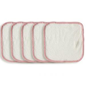Organic Wash Cloth Pink Set of 5