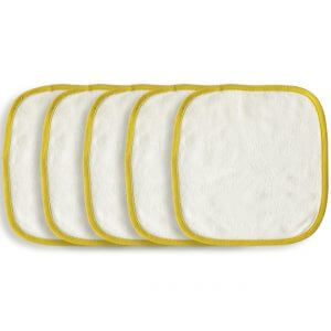Organic Wash Cloth Yellow Set of 5