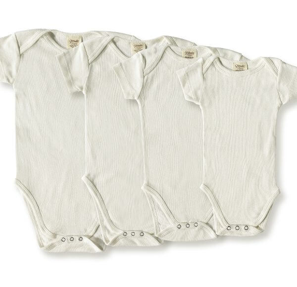 Dye Free Organic Short-Sleeve Bodysuit Group