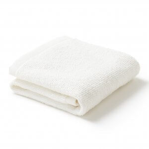 Sea Salt White Face Towel