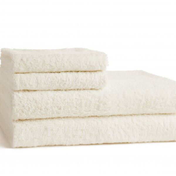 2 Sea Salt White Bath and Hand Towels