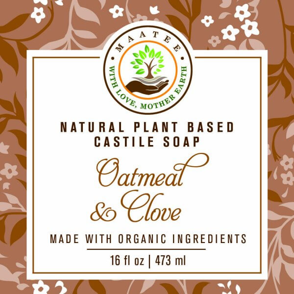 Castile Soap Oatmeal and Clove FRONT