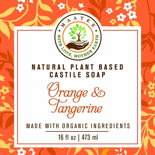 Castile Soap Orange and Tangerine FRONT