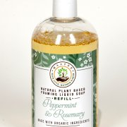 Peppermint and Rosemary Castile Soap Peppermint And Rosemary Organic Liquid Foaming soap REFILL
